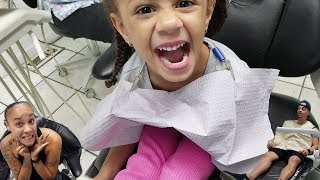 Family Visit to the Dentist for Kids Teeth Cleaning | Imani