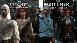 Witcher 1 Prologue REMASTERED - Side by Side COMPARISON