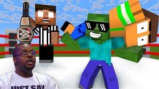 Monster School : WWE WORLD HEAVYWEIGHT CHAMPIONSHIP  CHALLENGE - Minecraft Animation