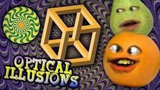 Annoying Orange - React to CRAZY OPTICAL ILLUSIONS!