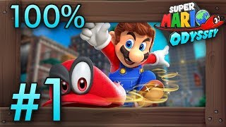 Super Mario Odyssey 100% Walkthrough Part 1   Intro & Cap Kingdom (Switch Gameplay)