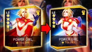 Injustice 2 Mobile. Level 60 Gear on Power Girl! Gameplay and Look Change!