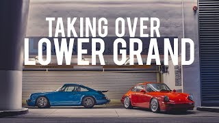 Aircooled Porsche 911s overtake Lower Grand