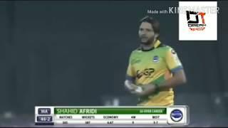 Shahid afridi hattrick in t10 cricket-the first hattrick