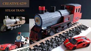 How To Make A Train Engine |Electric (DC) Motor |Using Cardboard | DIY Scale Model |RC Steam Train