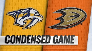 11/12/18 Condensed Game: Predators @ Ducks
