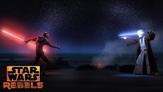 Darth Maul vs Obi-Wan | Star Wars Rebels | Disney XD