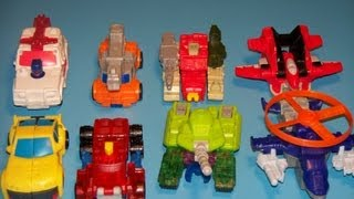 2002 MCDONALD'S TRANSFORMERS ARMADA HAPPY MEAL TOY SET REVIEW