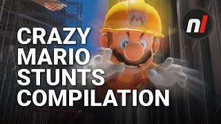 24 Seriously Crazy Stunts in Super Mario Odyssey   #MarioMegaJump Compilation 2