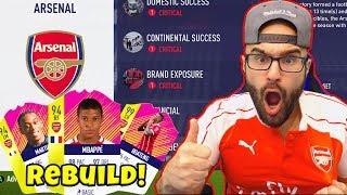 ARSENAL REBUILD! Mbappe $110,000,000 SIGNING!! - FIFA 18 Career Mode