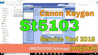 Canon ST5103 Service Tool And Keygen 2018 (original)