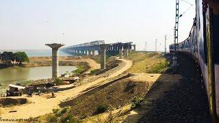 CROSSING the NEWLY INAUGURATED GANGA RAIL cum ROAD Bridge connecting North & South BIHAR