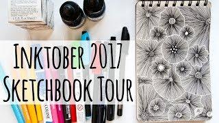 Sketchbook Tour and mini vlog: Inktober 2017