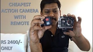 4K ULTRA HD ACTION CAMERA WITH REMOTE  REVIEW AND UNBOXING. IN ENGLISH