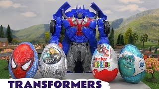 Transformers Kinder Surprise Eggs Thomas and Friends Hot Wheels Spider-Man Play Doh Monsters Inc