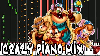 Crazy Piano Mix! CHIP N' DALE RESCUE RANGERS Full Theme