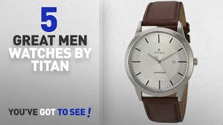 Top 10 Titan Men Watches [ Winter 2018 ]: Titan Men's 'Neo' Quartz Metal and Leather Watch,