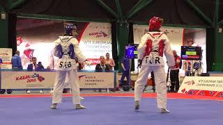 Vanja Stankovic (SRB) vs Zeliha Agris (TUR). European Taekwondo Championships, Kazan-2018