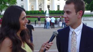 Interviewing Strangers At The White House About President Trump!