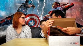 BOX SURPRISE CAPTAIN AMERICA CIVIL WAR MARVEL - STUFFBOX MAI 2016 | Family Geek