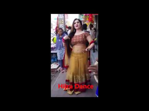 Indian Hijra(Kinner) Dance On Road | Long Hair | Beautiful | Transgender Tradition
