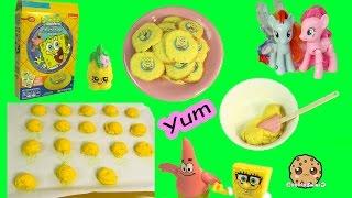 Baking Pineapple Flavored Spongebob SquarePants Sugar Cookies with MLP & Shopkins