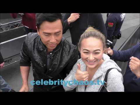 Action movie star Actor Donnie Yen thrills every fan he meets in hollywood