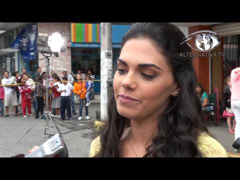 Livia Brito graba telenovela en Tuxpan