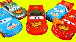 Huge Disney Cars Pixar Lightning McQueen Collection With Dinoco And Color Changers Lightning McQueen
