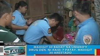 Mahigit 30 bahay na umano'y drug den sa Davao City, ni-raid; 7 patay, mahigit 30 arestado