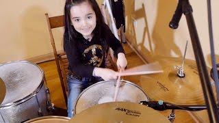 Little Big Shots Audition - Girl Drummer