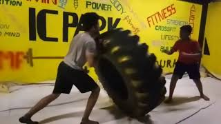 Strength TIRE workout ... IC PARK - KOLLAM - south India