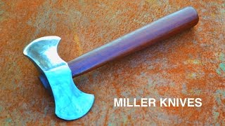 Forging a Double Headed Throwing Axe from a Hammer