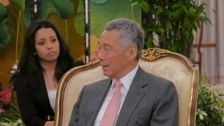 Edi Rama takon homologun nga Singapori - Top Channel Albania - News - Lajme