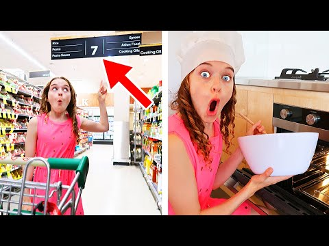 ONLY USING ITEMS FROM ONE AISLE TO COOK Challenge Best Gourmet Meal Wins iPhone 11 Pro Max