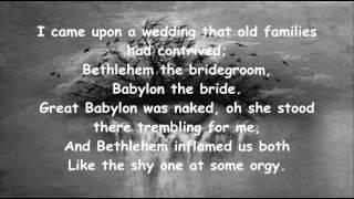 Leonard Cohen - Last Year's Man (Lyrics)