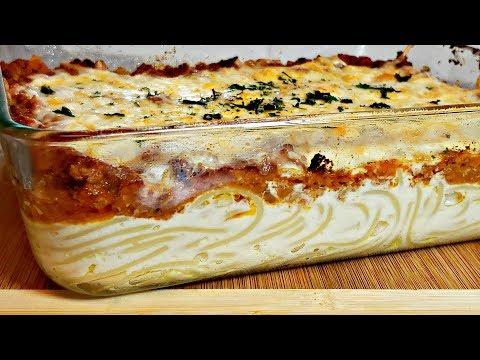 Creamy Cheesy Spaghetti Bake Recipe Easy Pasta Bake Idea