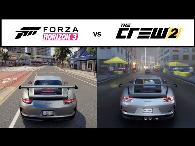 ✪ The Crew 2 vs Forza Horizon 3 - Graphics Comparison (HD)
