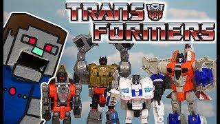 Transformers Power of the Primes Grimlock Starscream Dinobots Optimus Prime G1 Unboxing Toys Episode
