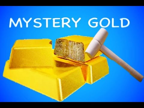 GIANT SURPRISE DIY Mystery GOLD or Rock ? Kids Dig It Huge Surprise Chubby Puppies Dog Park