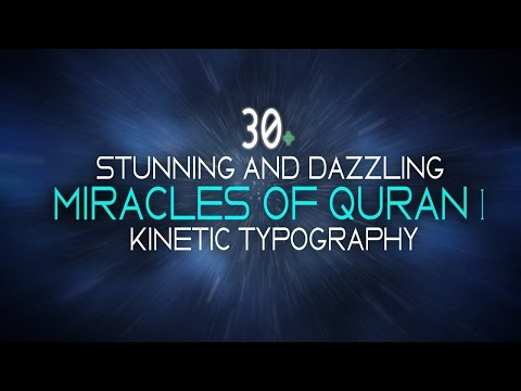 30 Stunning Dazzling Miracles of The Holy Quran Kinetic Typography