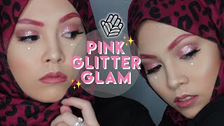 Pink Glitter Glam make-up | lissapissa