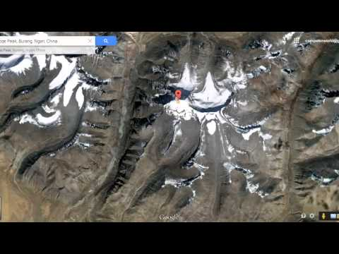Lord Shiva's mount kailash view from satellite map in Google Earth