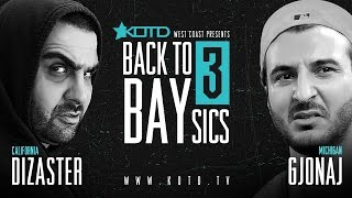 KOTD - Rap Battle - Dizaster vs Gjonaj | #B2B3