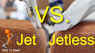 Jet VS Jetless Upholstery Cleaning Tools