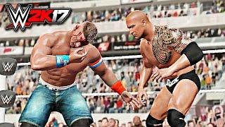 WWE 2K17 - John Cena vs The Rock WWE Championship Match at Wrestlemania 31 W/DAYTIME ARENA