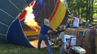 Slow Mo Hot Air Balloon Inflate