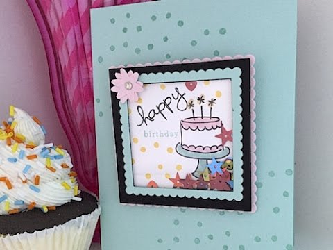 Simply Simple - Turn your Endless Birthday Shaker Easel into a Card by Connie Stewart