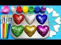 How To Make Frozen Paint With Glitter Rainbow Play Doh Hearts