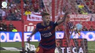 اهداف مبارة نهائي كأس ملك اسبانيا بين برشلونة و إشبيلية 2-0 كأس ملك اسبانيا 22-5-2016